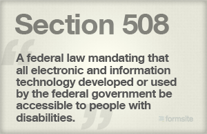 Section 508 Description
